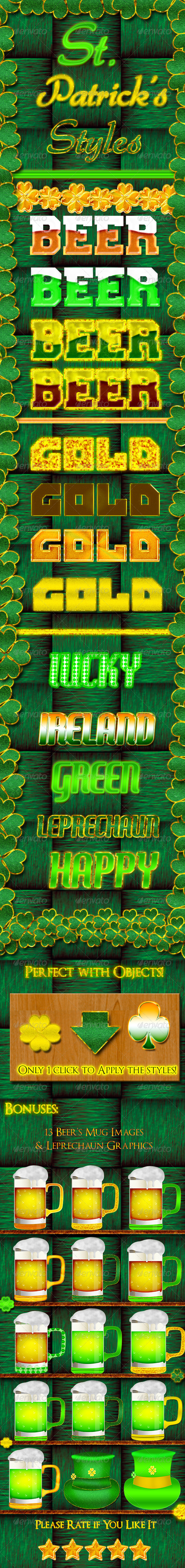 GraphicRiver St Patricks Day Styles and Graphics 6943573
