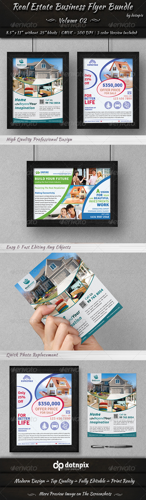 GraphicRiver Real Estate Business Flyer Bundle Volume 2 6943607