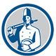Gourmet Cuisine and Catering Logo Retro - GraphicRiver Item for Sale