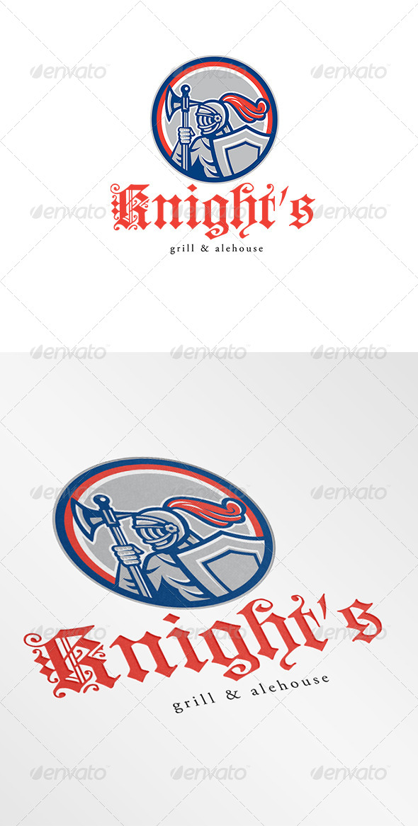 GraphicRiver Knight Grill and Alehouse Logo 6943980