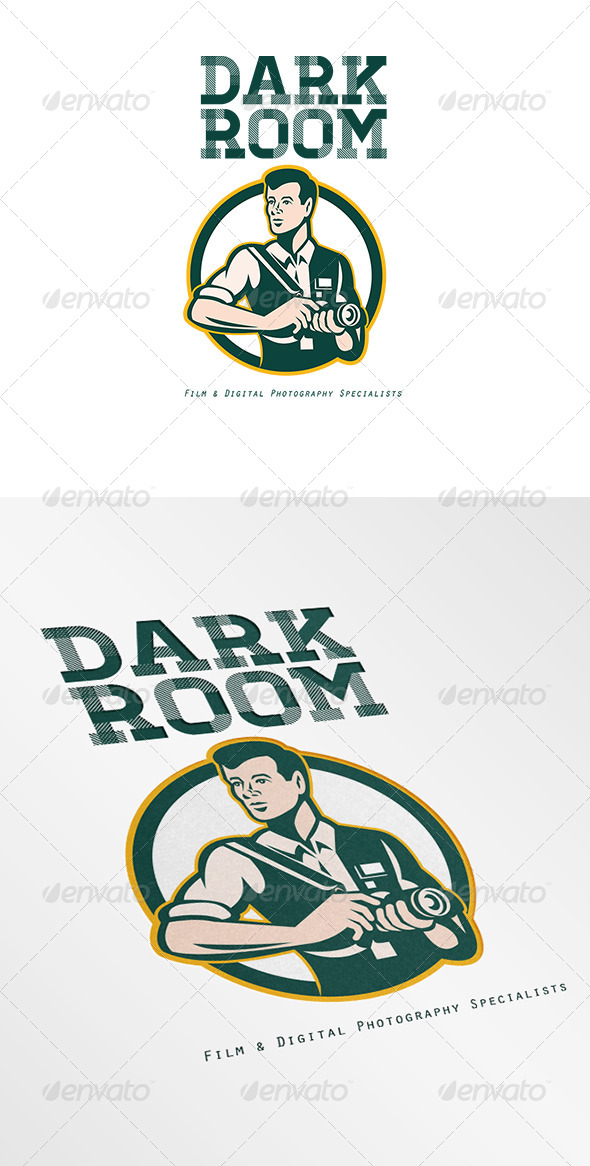 GraphicRiver Dark Room Film and Digital Photography Logo 6944093