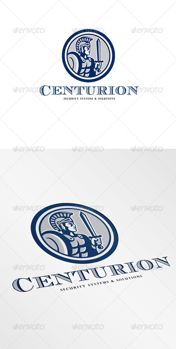 GraphicRiver Centurion Security Systems and Solutions Logo 6944098