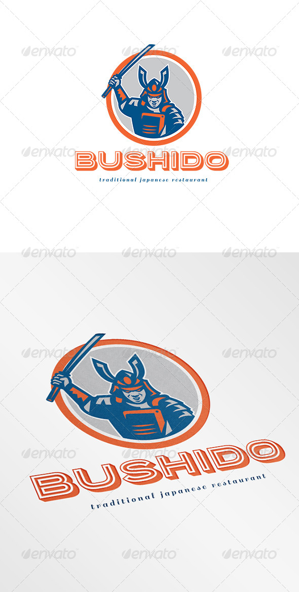 GraphicRiver Bushido Traditional Japanese Restaurant Logo 6944100