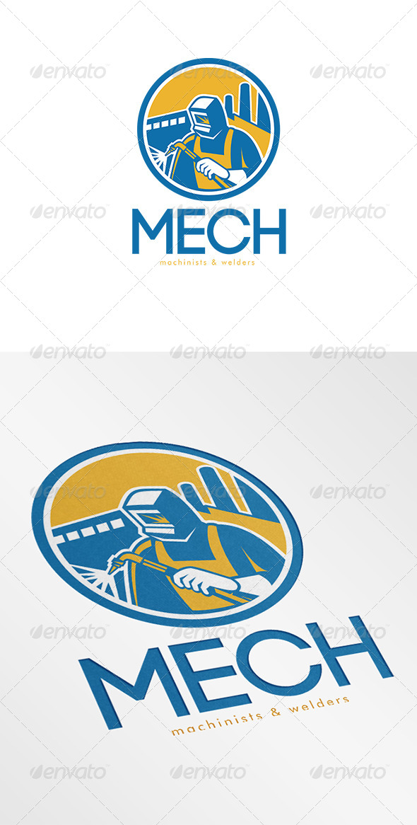 GraphicRiver Mech Machinist and Welder Fabricator Logo 6944254