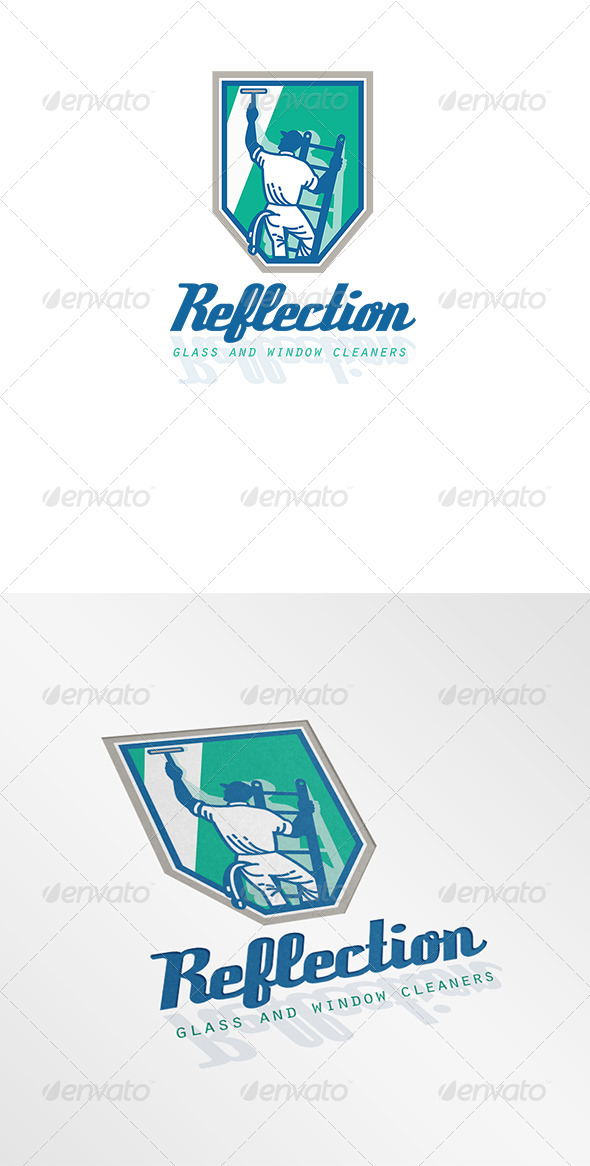 GraphicRiver Reflection Glass and Window Cleaner Logo 6944268