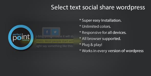 CodeCanyon Select text social share wordpress 6944279