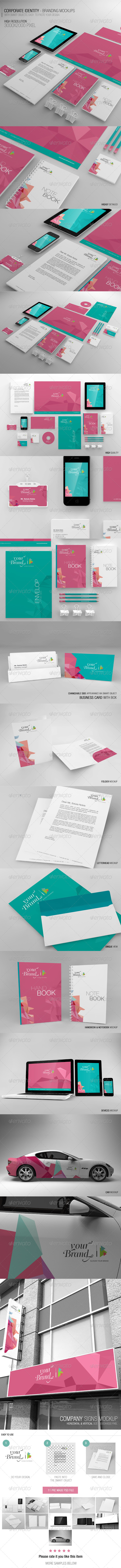 GraphicRiver Corporate Identity Branding Mockups 6944354