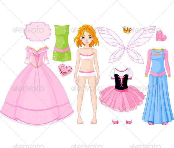 GraphicRiver Dress Up Princess 6944525