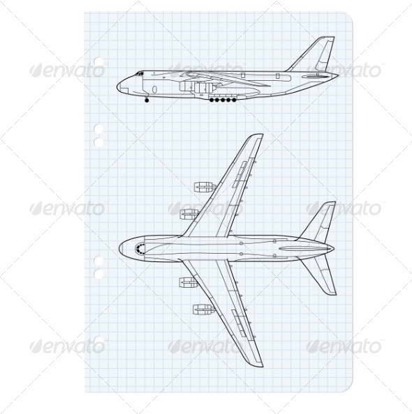 GraphicRiver Airplane Drawing 6944524