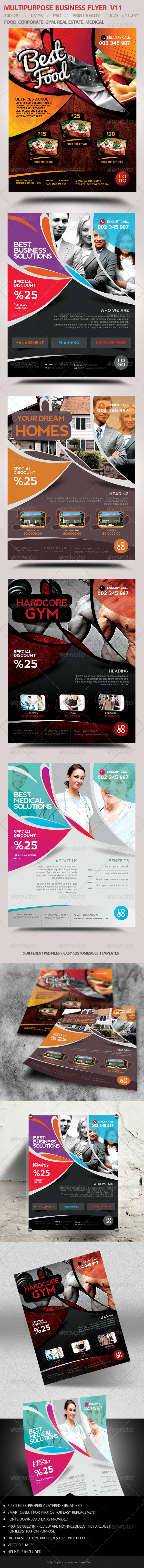 Multipurpose Business Flyer V11 - Flyers Print Templates