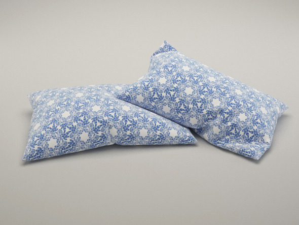 Set of 2 pillows with 5 Vray materials for c4d  - 3DOcean Item for Sale