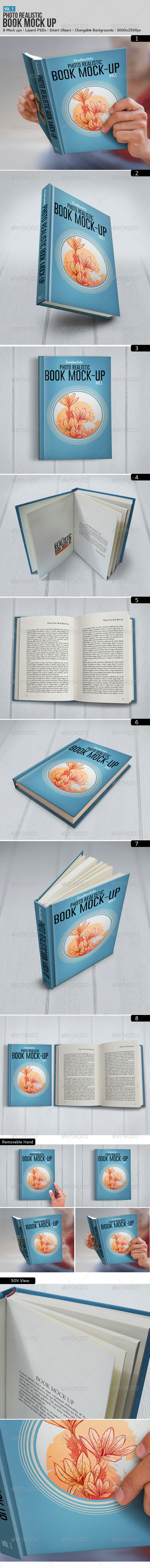 GraphicRiver Book Mock-Up 6945419