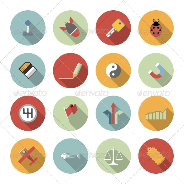 GraphicRiver Universal Vector Flat Icons 6945428