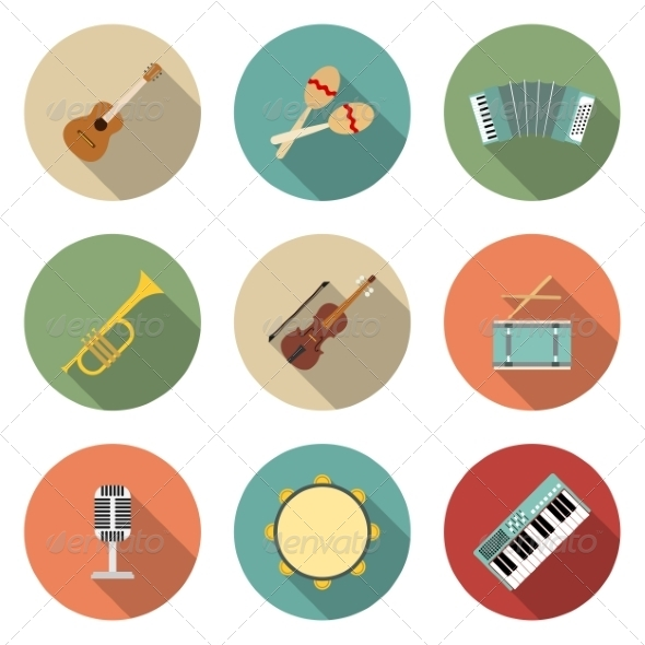 GraphicRiver Musical Instruments Icons 6945497