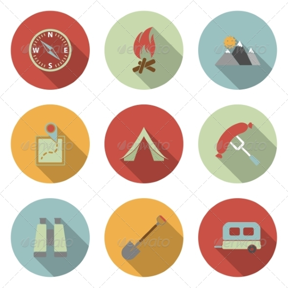GraphicRiver Camping Icons 6945690