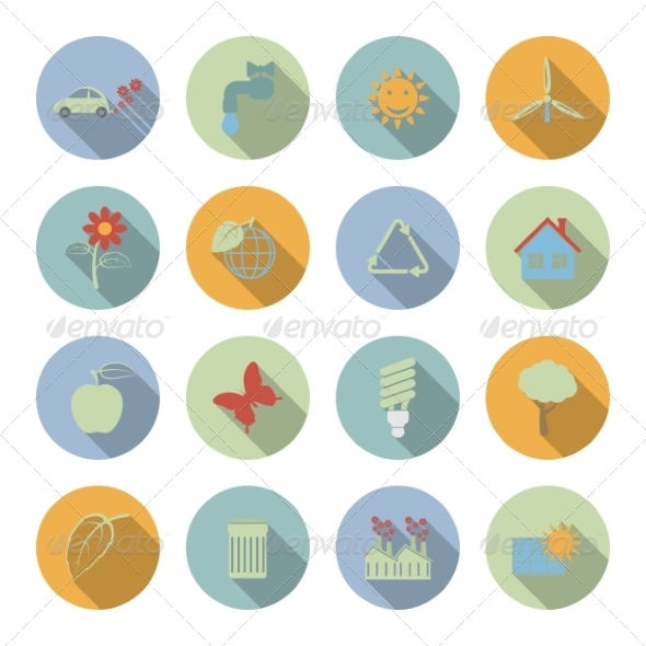 GraphicRiver Ecology Icons 6945710