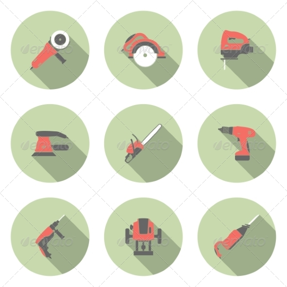 GraphicRiver Electric Tool Icons 6945726