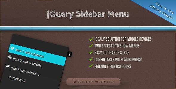 CodeCanyon jQuery Sidebar Menu 6945789