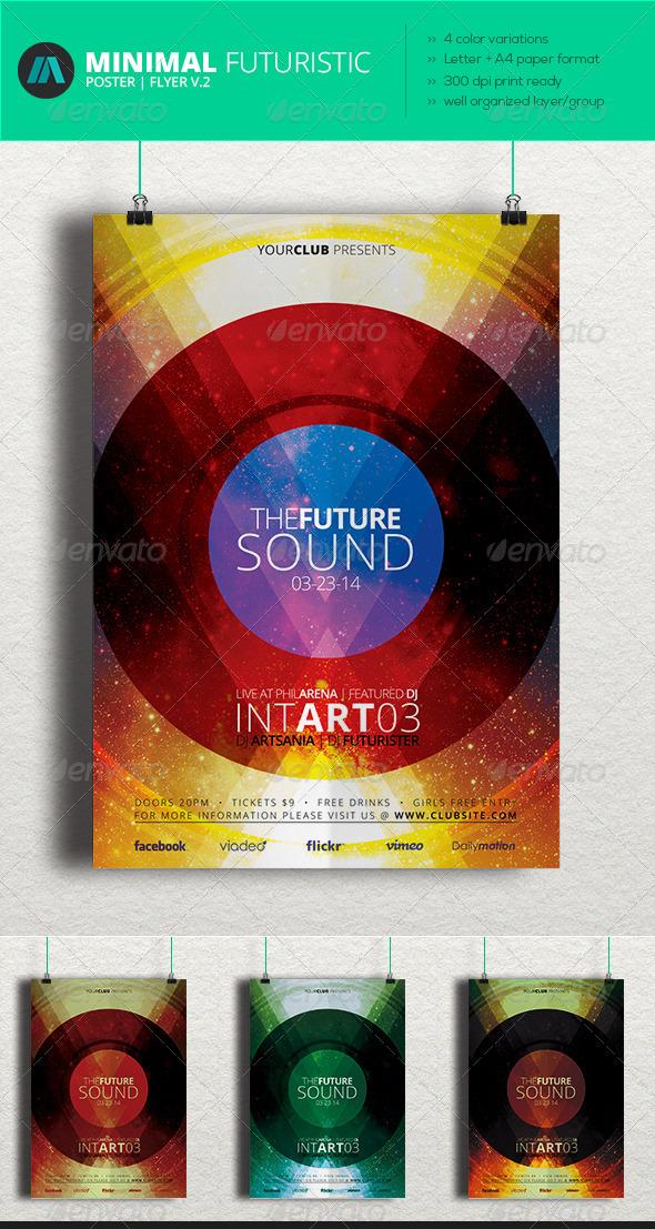 GraphicRiver Minimal Futuristic Poster Flyer V.2 6945927