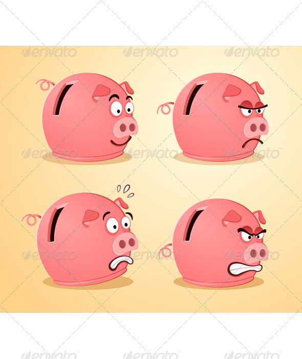 GraphicRiver Various Expression of Piggybank 6946065