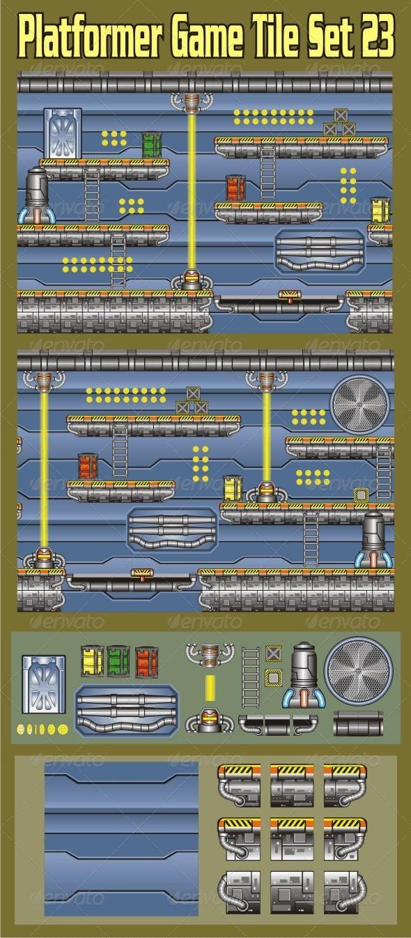 GraphicRiver Platformer Game Tile Set 23 6946146
