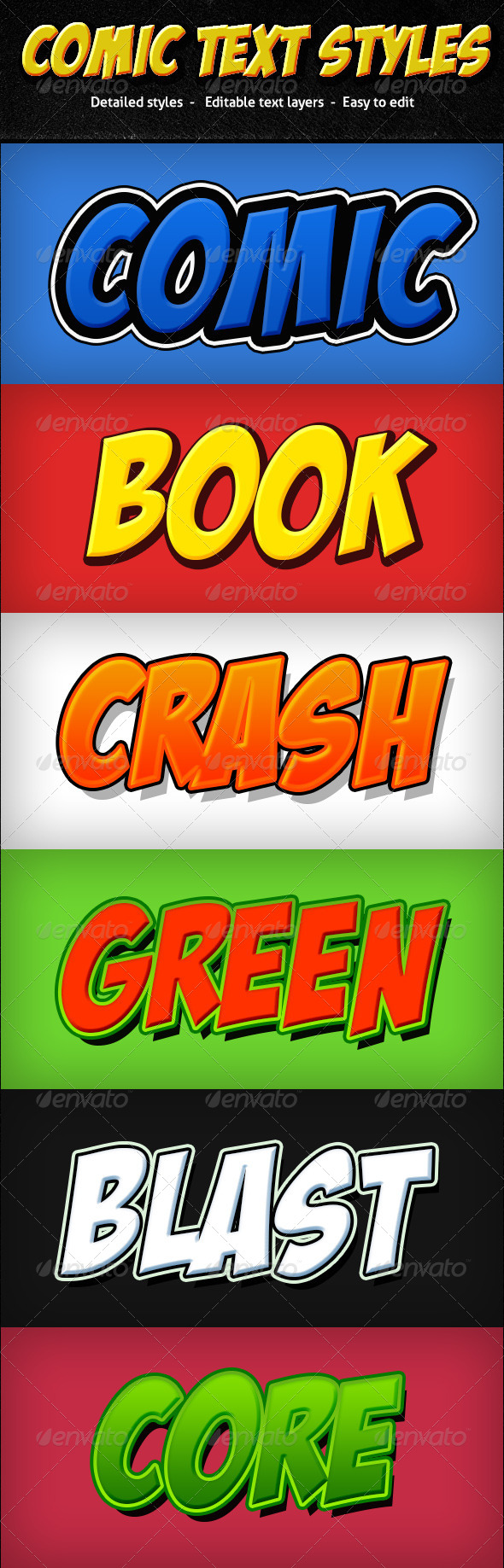 GraphicRiver Comic Text Styles 6946466