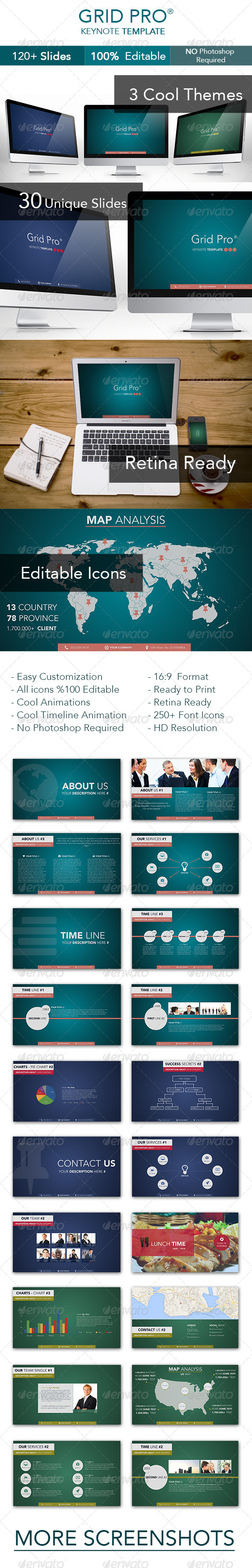 GraphicRiver Grid Pro Keynote Template 6925605