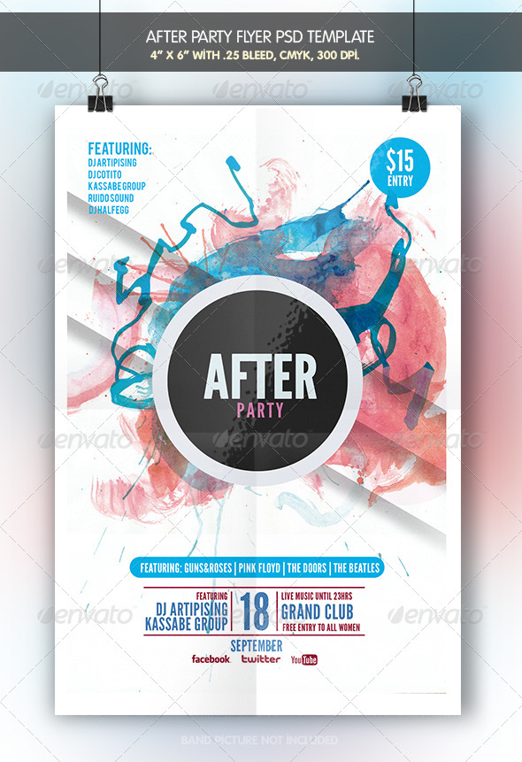 GraphicRiver After Party Flyer Template 6947338