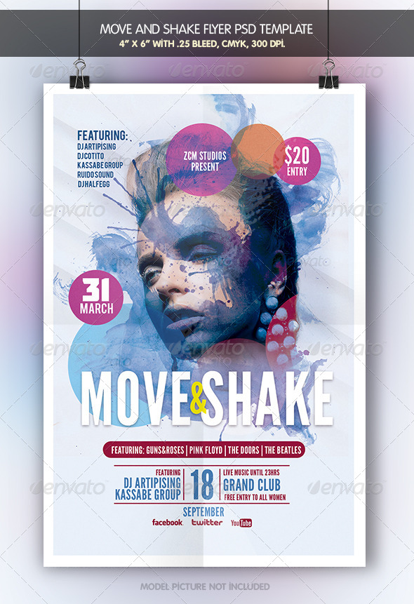 GraphicRiver Move and Shake Flyer Template 6947437
