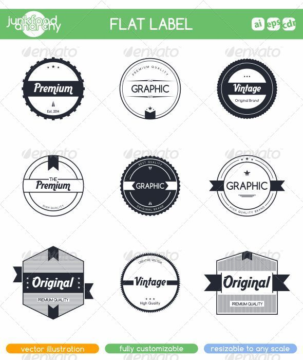 GraphicRiver Flat Label Sticker 6947445