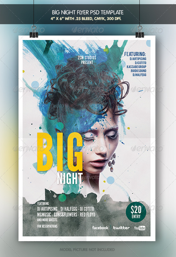 GraphicRiver Big Night Flyer Template 6947450