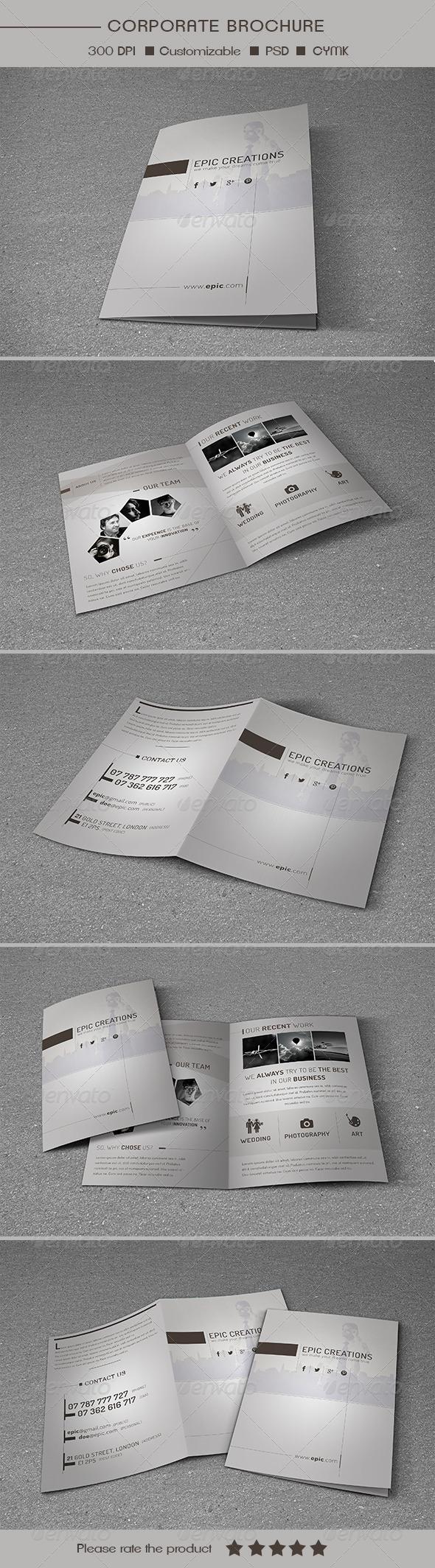 GraphicRiver Bifold Multipurpose Brochure Template 6948377