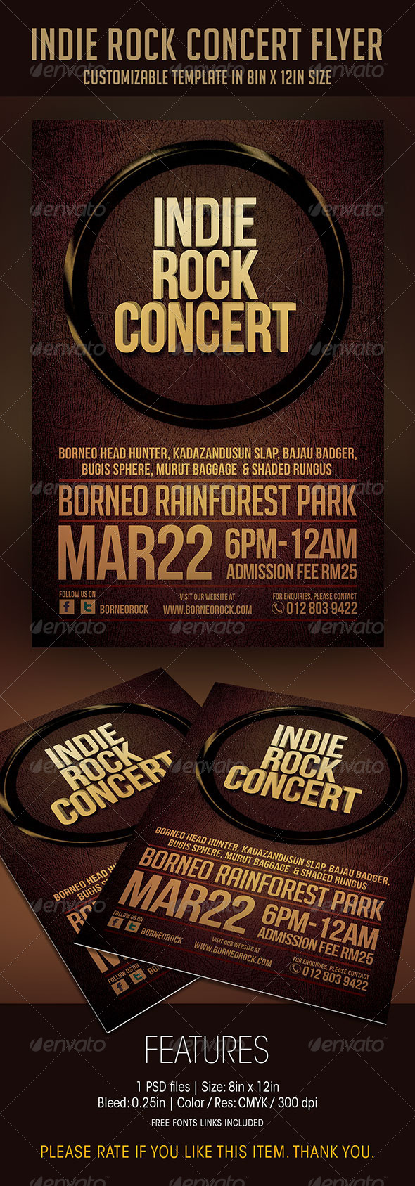 GraphicRiver Indie Rock Concert Flyer 6948702