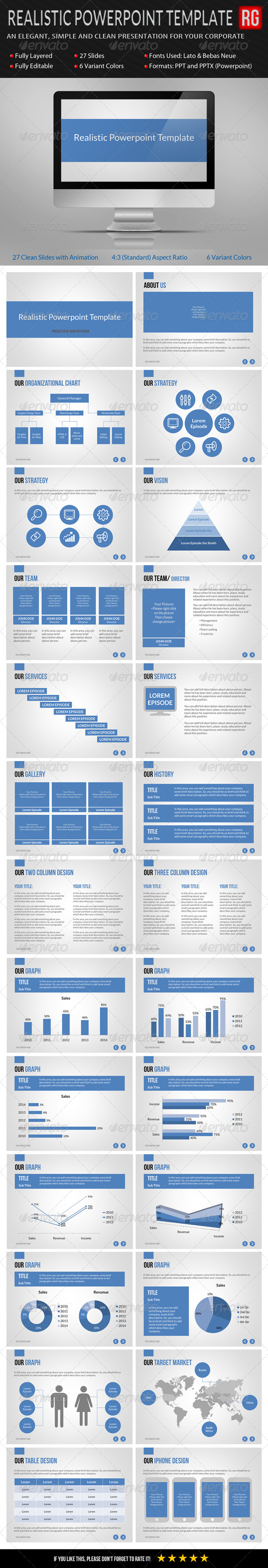 GraphicRiver Realistic Powerpoint Template 6948988