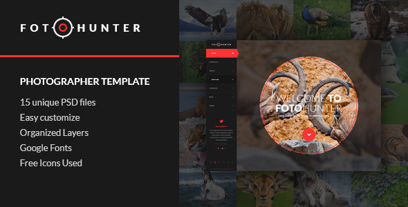 FotoHunter - Creative Photographer PSD Template