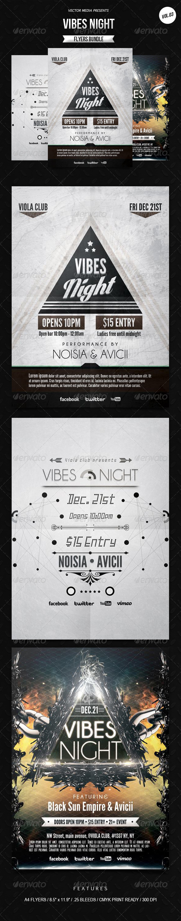 GraphicRiver Vibes Night Flyers Bundle [Vol.3] 6949342