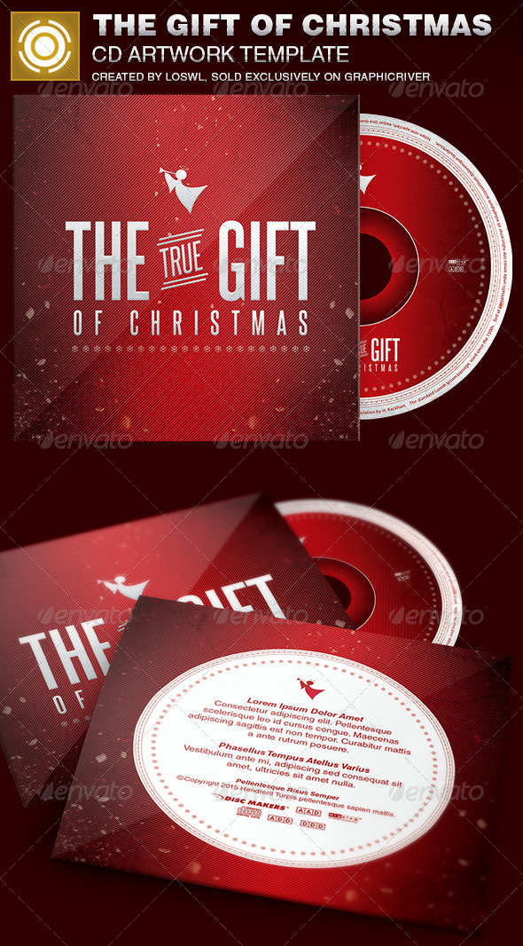 GraphicRiver The Gift of Christmas CD Artwork Template 6949355