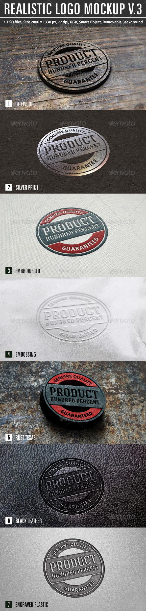 GraphicRiver Realistic Logo Mockup v.3 6949358