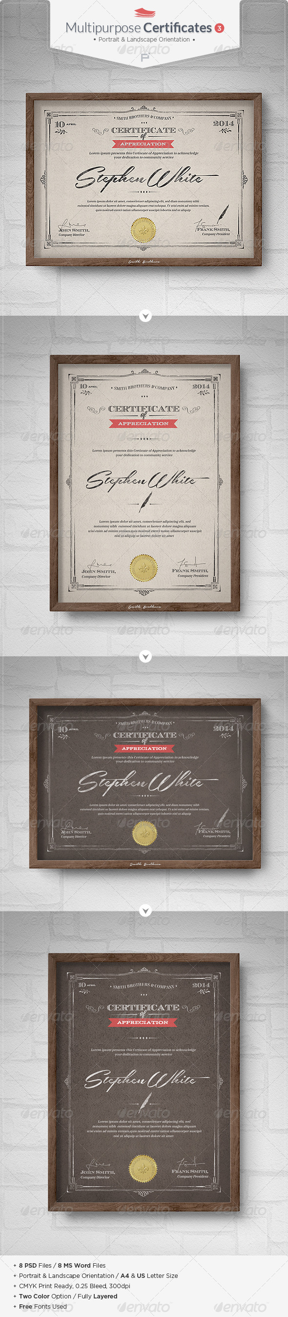 GraphicRiver Multipurpose Certificates III 6949673