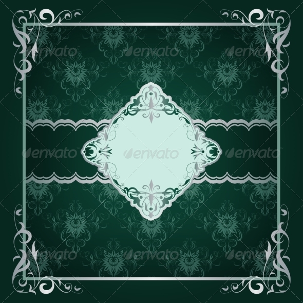 GraphicRiver Royal Frame Green Background 6949750