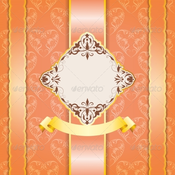 GraphicRiver Vintage Frame Design for Greeting Card 6949763