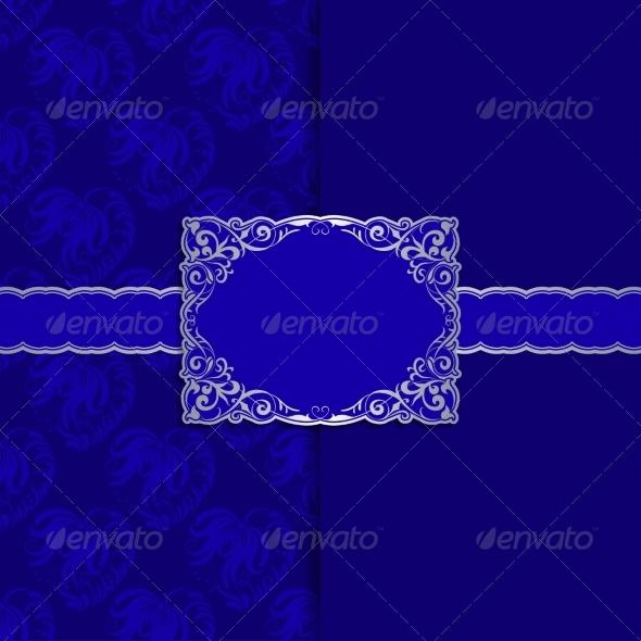GraphicRiver Vintage Template Frame Design for Greeting Card 6949770
