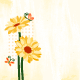 Springtime Daisy Flower with Butterfly - GraphicRiver Item for Sale