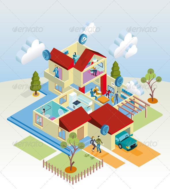 GraphicRiver Wireless Home 6949858