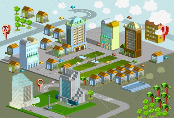 GraphicRiver Isometric Cityscape 6949894