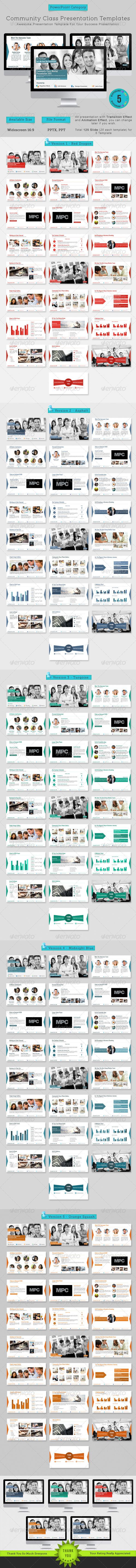 GraphicRiver Community Class Meetup Presentation Templates 6949910