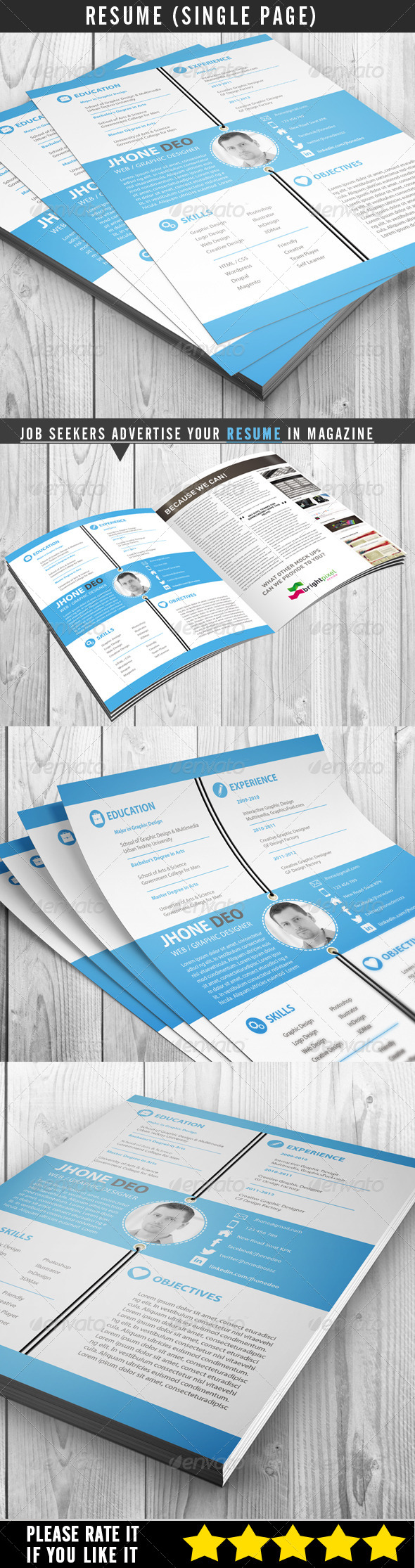 GraphicRiver Resume Single Page 6949911