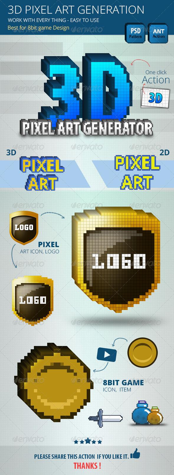 GraphicRiver 3D Pixel Art Generation 6944066