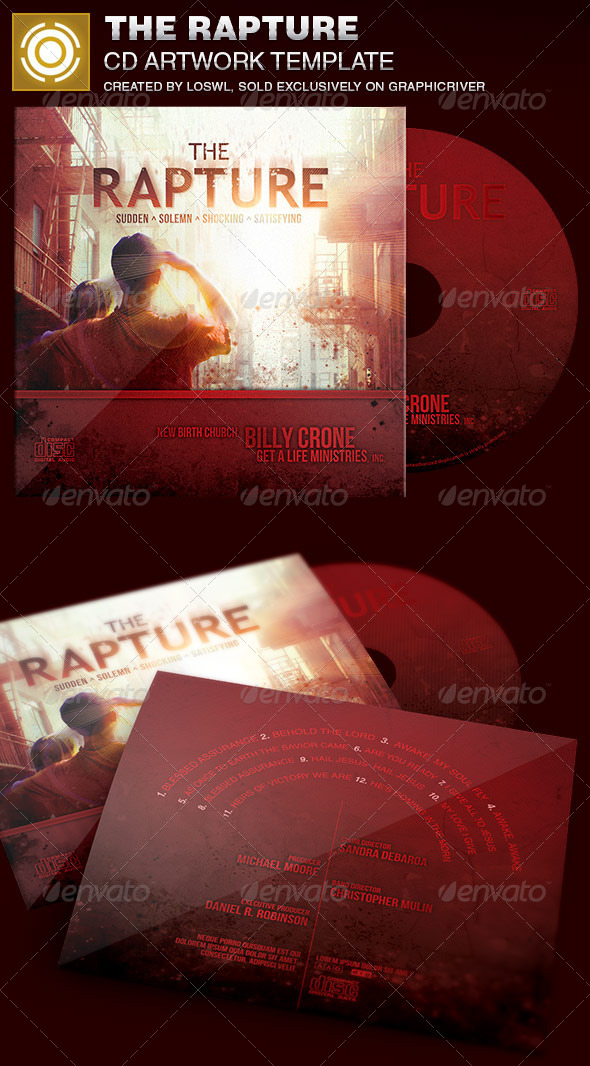 GraphicRiver The Rapture CD Artwork Template 6951279