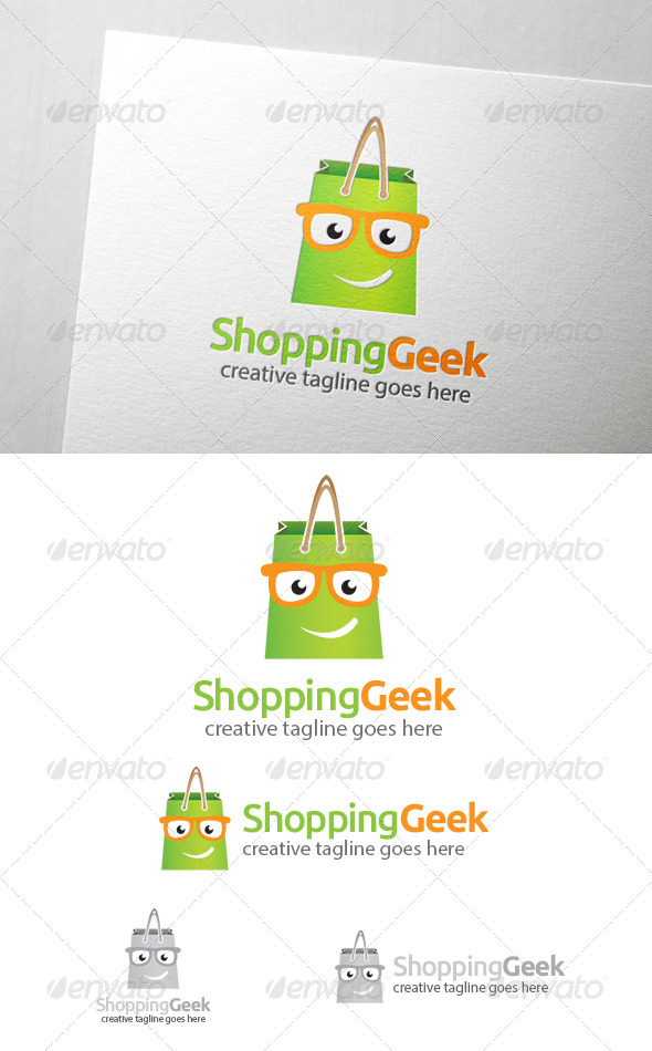 GraphicRiver Shopping Geek Logo 6951333